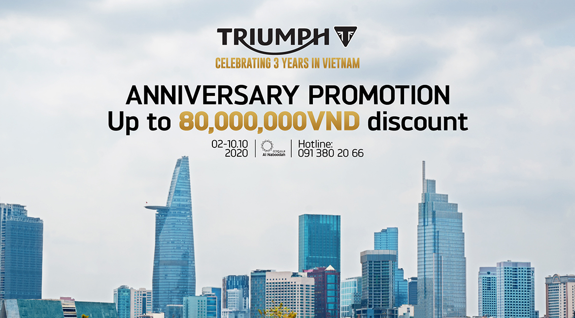 3rd Year Anniversary Promotion | 02 - 10.10.2020